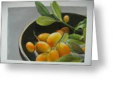 Bol De Kumquats Greeting Card