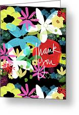 Bold Floral Thank You Card- Design By Linda Woods Greeting Card