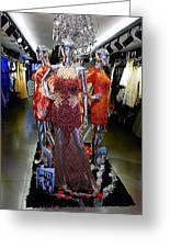 Bold Mannequins Fashion Display In Palma Majorca Spain Greeting Card