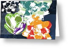 Bold Succulents 1- Art By Linda Woods Greeting Card by Linda Woods
