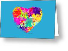 Bold Watercolor Heart - Tee Shirt Design Greeting Card