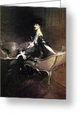Boldini Giovanni Consuelo Duchess Of Marlborough With Her Son Ivor Spencer Churchill Giovanni Boldini Greeting Card