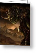 Bolg The Goblin King Greeting Card