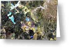 Bolivian Andes From Space Greeting Card