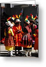 Bolivian Typical Costume Greeting Card