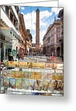 Bologna Artworks Of The City Hanging In  Greeting Card