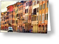 Bologna Window Balcony Texture Colorful Italy Buildings Greeting Card