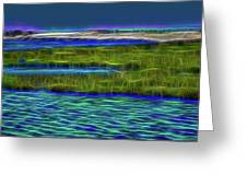 Bolsa Chica Wetlands I Abstract 1 Greeting Card