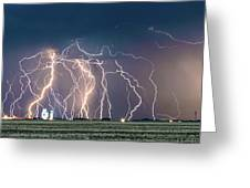 Bolts Over Bushland Greeting Card