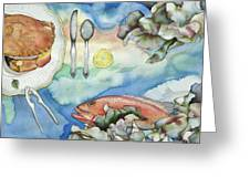 Bon Appetit Together Right Image Diptych Greeting Card