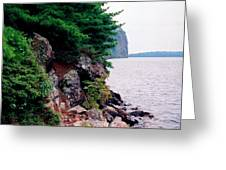 Bon Echo Shoreline Wc 2  Greeting Card