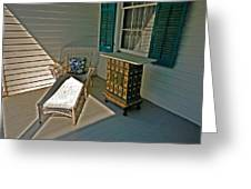 Bon Secour Lounge On The Porch Greeting Card