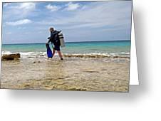 Bonaire Shore Diving 3 Greeting Card