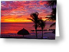Bonaire Sunset 1 Greeting Card