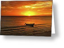 Bonaire Sunset 4 Greeting Card