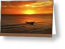 Bonaire Sunset 4 Greeting Card