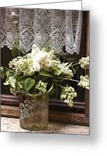 Bonbons White Hydrangeas France Greeting Card