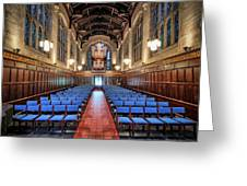 Bond Chapel Pipes View Greeting Card