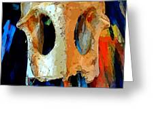 Bone And Paint Abstract Greeting Card