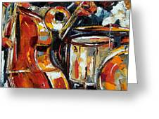 Bone Bass And Drums Greeting Card