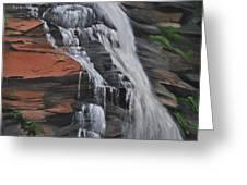 Bone Creek Falls Greeting Card