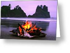 Bonfire On The Beach, Point Of The Greeting Card