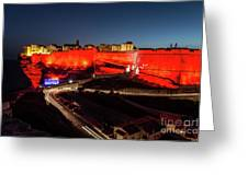 Bonifacio Fortress At Night Greeting Card