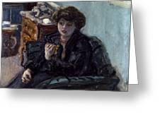 Bonnard: Lady, 19th C Greeting Card