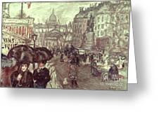Bonnard: Place Clichy, C1895 Greeting Card
