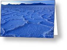Bonneville Salt Flats At Dusk Greeting Card