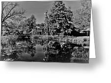 Bonneyville Grist Mill          Black And White        Autumn        Indiana Greeting Card
