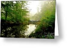 Bonneyville Mill Waterfall Greeting Card