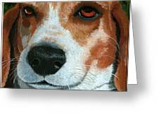 Bonnie - Beagle Painting Greeting Card