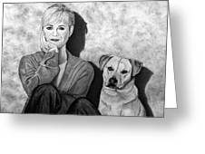 Bonnie Hunt And Charlie Greeting Card