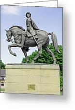 Bonnie Prince Charlie Statue - Derby Greeting Card