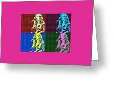 Bonnie Raitt Pop Art Poster Greeting Card