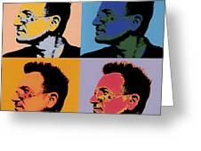 Bono Pop Panels Greeting Card