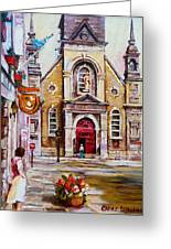 Bonsecours Church Greeting Card