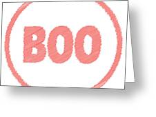 Boo Rubber Stamp Greeting Card
