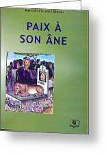 Book Cover Paix A Son Ane Greeting Card