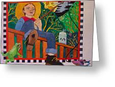 book illustration - Tom Sawyer Greeting Card