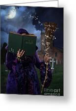 Book Of Magic Spells Greeting Card