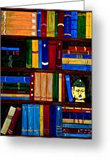 Bookcase Greeting Card
