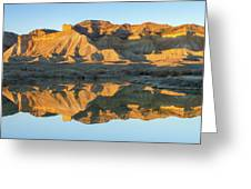 Bookcliffs Reflections Greeting Card