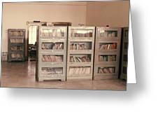 Bookshelves Greeting Card