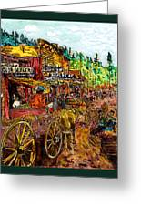Boomtown 1876 Greeting Card