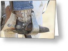 Boot And Spur Greeting Card