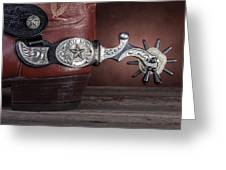 Boot Heel With Texas Spur Greeting Card