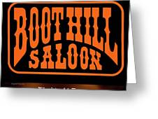 Boot Hill Saloon Sign Greeting Card