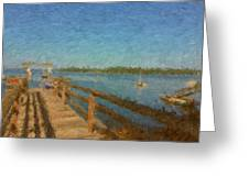 Boothbay Front Ocean View At Sunrise Greeting Card